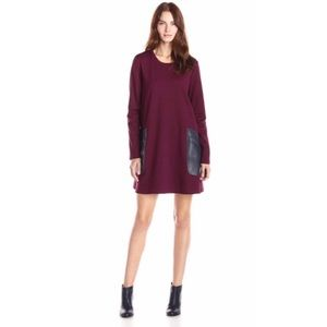 BCBGMAXAZRIA Farrah A Line Long Sleeve Dress XXS